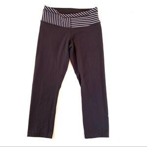 Lululemon Reversible Black Crop Cropped Leggings 4